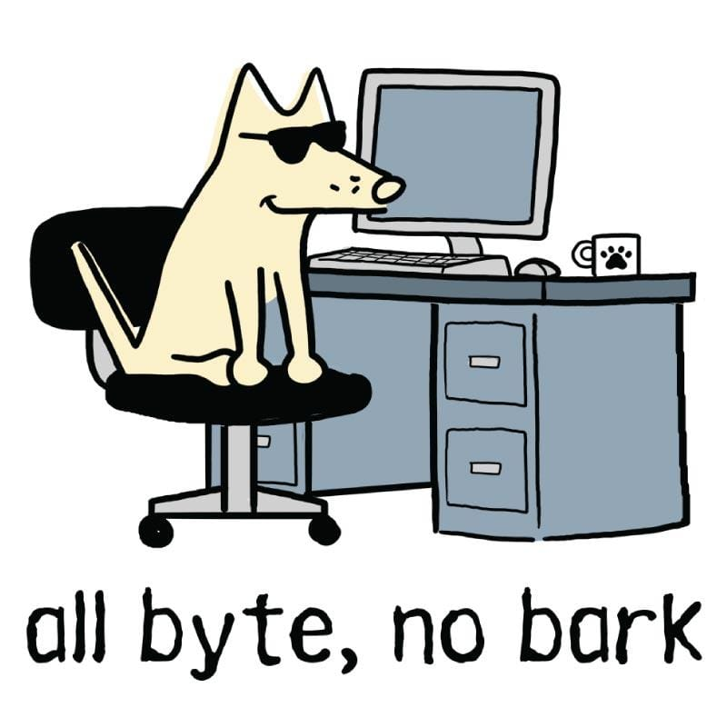 All Byte, No Bark - Coffee Mug