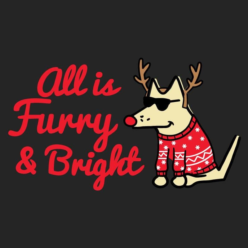 All Is Furry and Bright - Ladies T-Shirt 3-4 Sleeve
