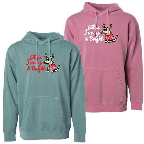 All Is Furry and Bright - Sweatshirt Pullover Hoodie