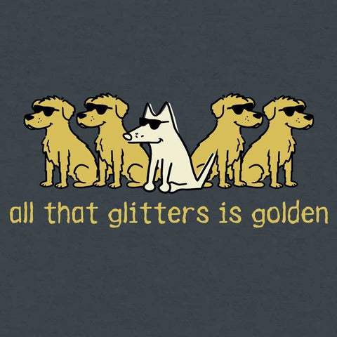 All That Glitters Is Golden - Heathered Pullover Hoodie - Teddy the Dog T-Shirts and Gifts