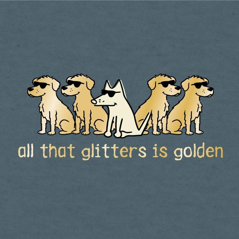 All That Glitters Is Golden - Lightweight Tee - Teddy the Dog T-Shirts and Gifts