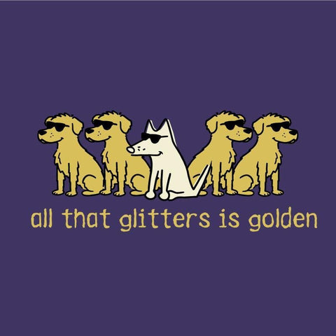 All That Glitters Is Golden - Canvas Tote - Teddy the Dog T-Shirts and Gifts