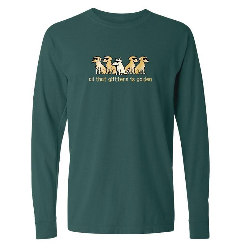 All That Glitters Is Golden - Long-Sleeve T-Shirt Classic - Teddy the Dog T-Shirts and Gifts