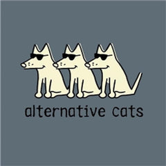 Alternative Cats T-Shirt - Long-Sleeve T-Shirt Classic - Teddy the Dog T-Shirts and Gifts