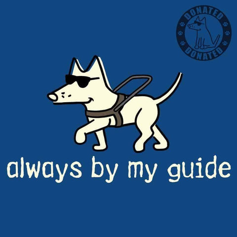 Always By My Guide - Ladies Curvy V-Neck Tee - Teddy the Dog T-Shirts and Gifts