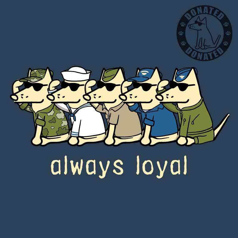 Always Loyal - Ladies Curvy V-Neck Tee