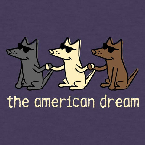 The American Dream - Ladies Curvy V-Neck Tee