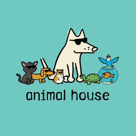 Animal House - Ladies T-Shirt V-Neck - Teddy the Dog T-Shirts and Gifts