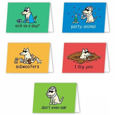 teddy the dog greeting cards 10 pack