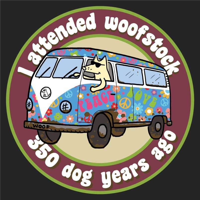 I Attended Woofstock - Ladies T-Shirt V-Neck