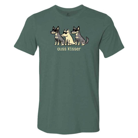 Auss Kisser - Lightweight Tee - Teddy the Dog T-Shirts and Gifts