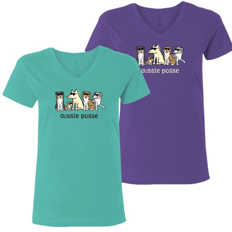 Aussie Posse - Ladies T-Shirt V-Neck