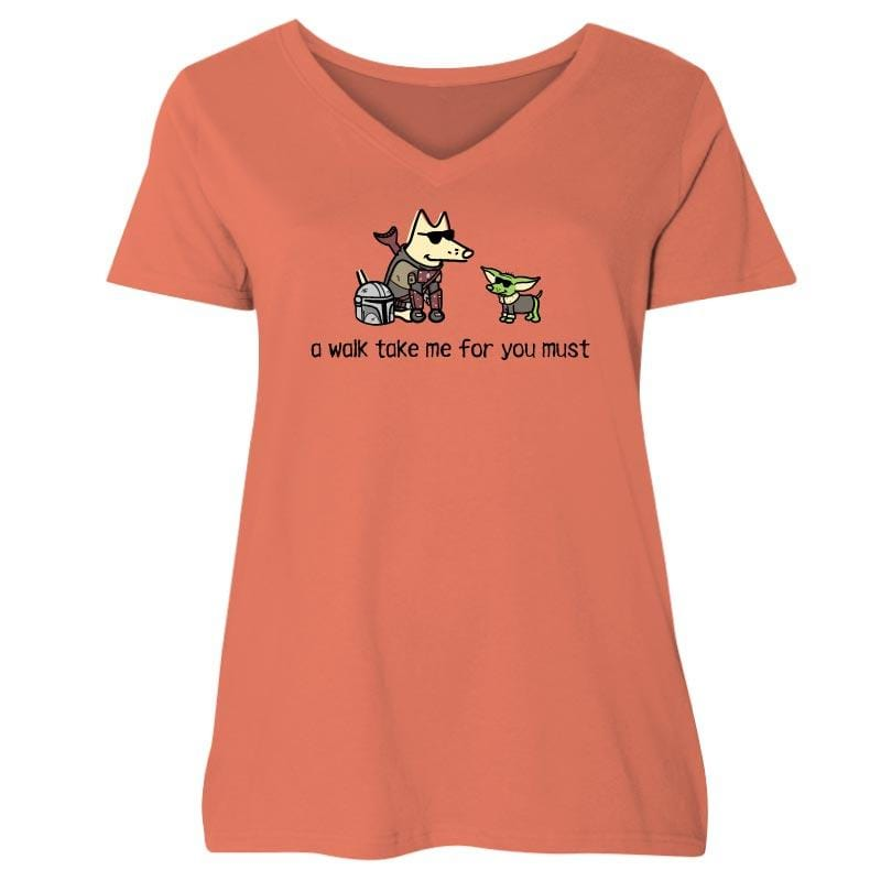 A Walk Take Me For You Must - Ladies Curvy V-Neck Tee