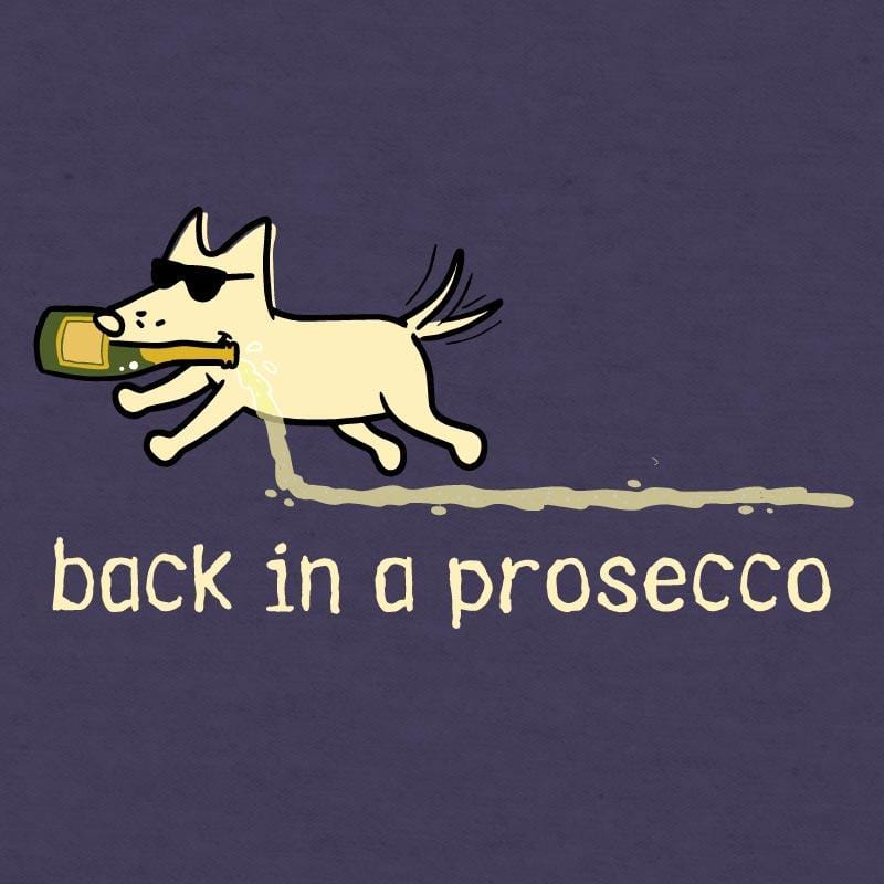 Back In A Prosecco - Ladies Curvy V-Neck Tee