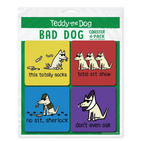 Bad Dog Coaster 4-Pack
