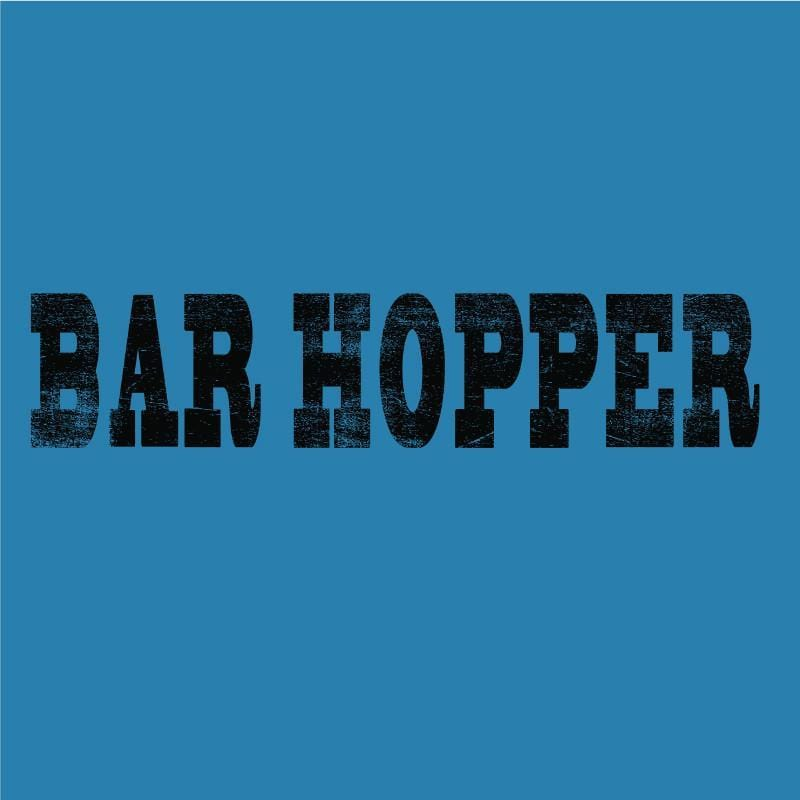 Bar Hopper - Ladies T-Shirt V-Neck - Teddy the Dog T-Shirts and Gifts
