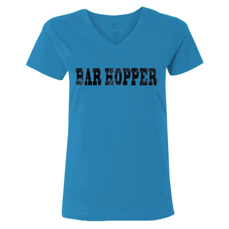 bar hopper ladies v neck t-shirt