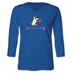 Bark For A Cure - Ladies T-Shirt 3-4 Sleeve
