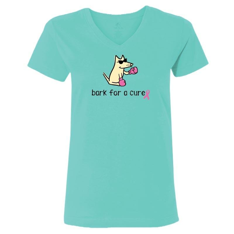 Bark For A Cure - Ladies T-Shirt V-Neck