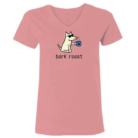 Bark Roast - T-Shirt Ladies V-Neck