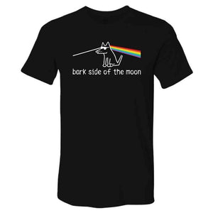 Bark Side of the Moon - T-Shirt Lightweight Blend - Teddy the Dog T-Shirts and Gifts