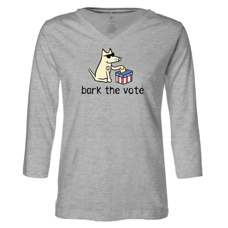 Bark The Vote - Ladies T-Shirt 3-4 Sleeve