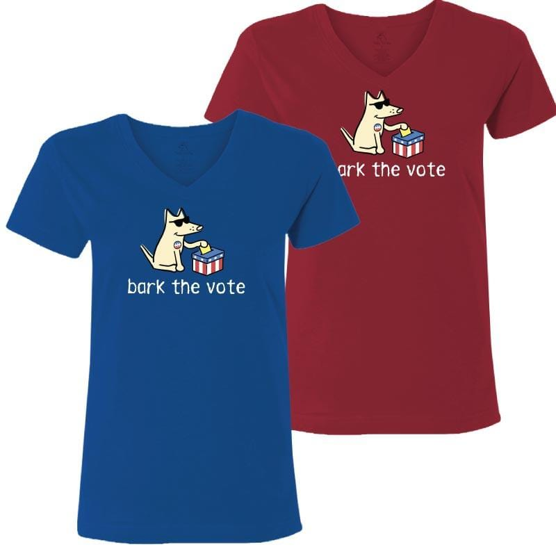 Bark The Vote - Ladies T-Shirt V-Neck