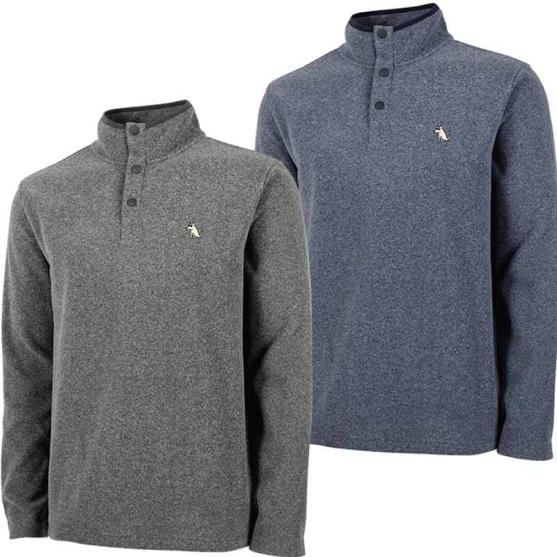 Teddy's Snap Neck Fleece Pullover