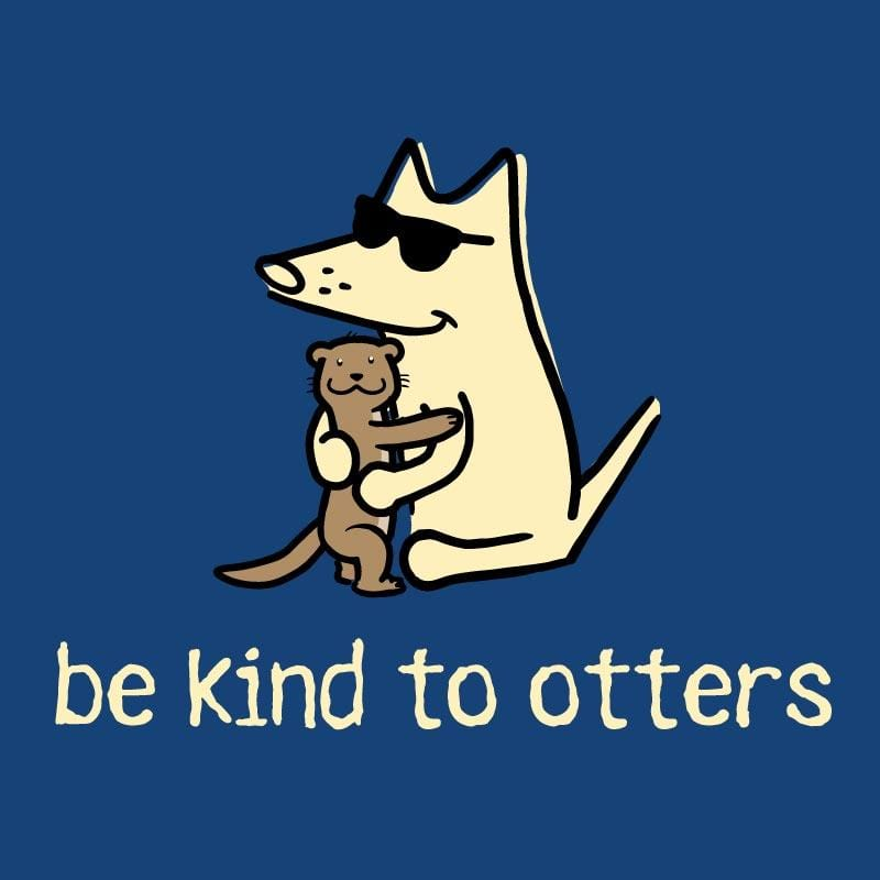 Be Kind To Otters - Ladies Curvy V-Neck Tee