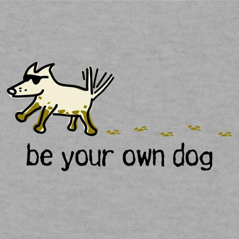 be your own dog ladies v neck t-shirt