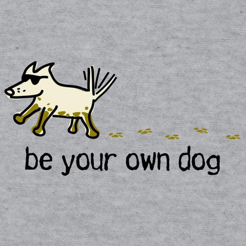 be your own dog youth baseball t-shirt