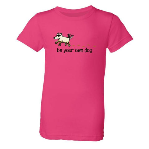 be your own dog girls youth t-shirt