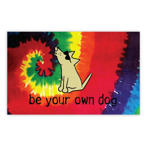 Be Your Own Dog Beach Towel - Teddy the Dog T-Shirts and Gifts