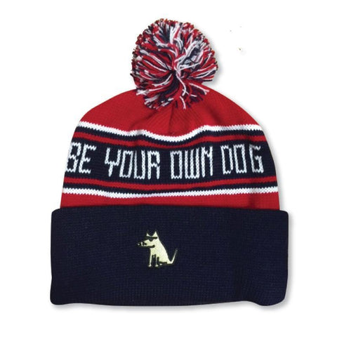 Be Your Own Dog Knit Hat with Pom