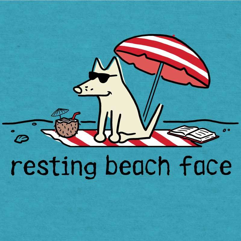 Resting Beach Face - Lightweight Tee