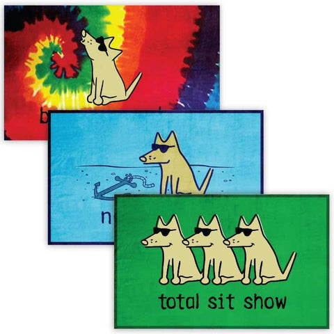 3 Piece Graphic Beach Towel Bundle - Teddy the Dog T-Shirts and Gifts