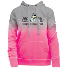 Need My Beauty Crest - Ladies Ombre Pullover Hoodie