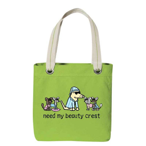 Need My Beauty Crest - Canvas Tote