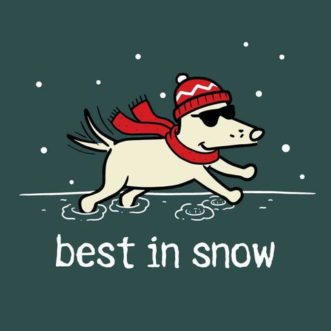 Best In Snow - Long-Sleeve T-Shirt Classic - Teddy the Dog T-Shirts and Gifts
