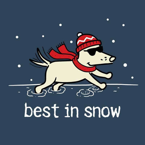 Best In Snow - Ladies T-Shirt V-Neck - Teddy the Dog T-Shirts and Gifts