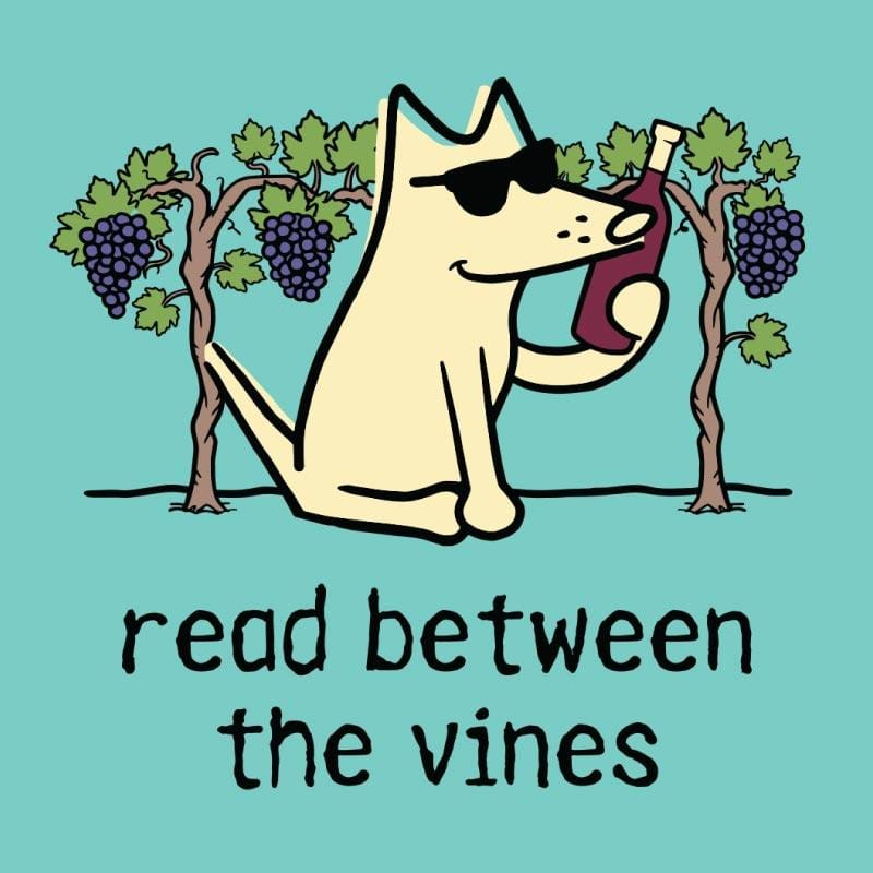 Read Between The Vines - Ladies Curvy V-Neck Tee