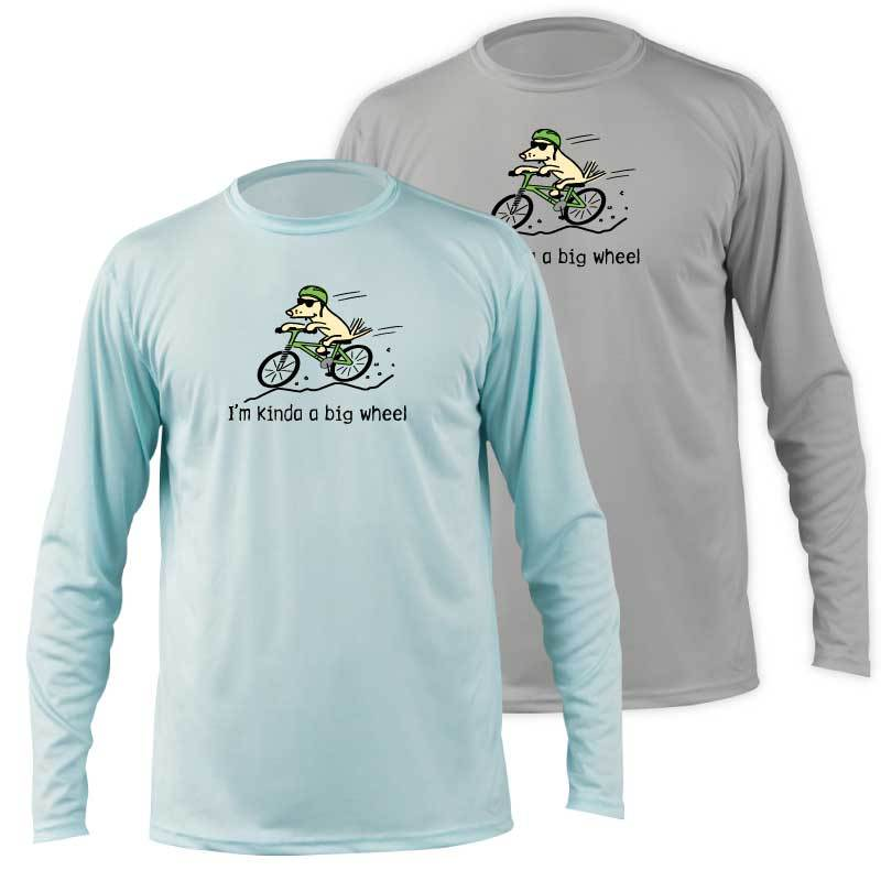 I'm Kinda A Big Wheel -  Long-Sleeve Performance T-Shirt