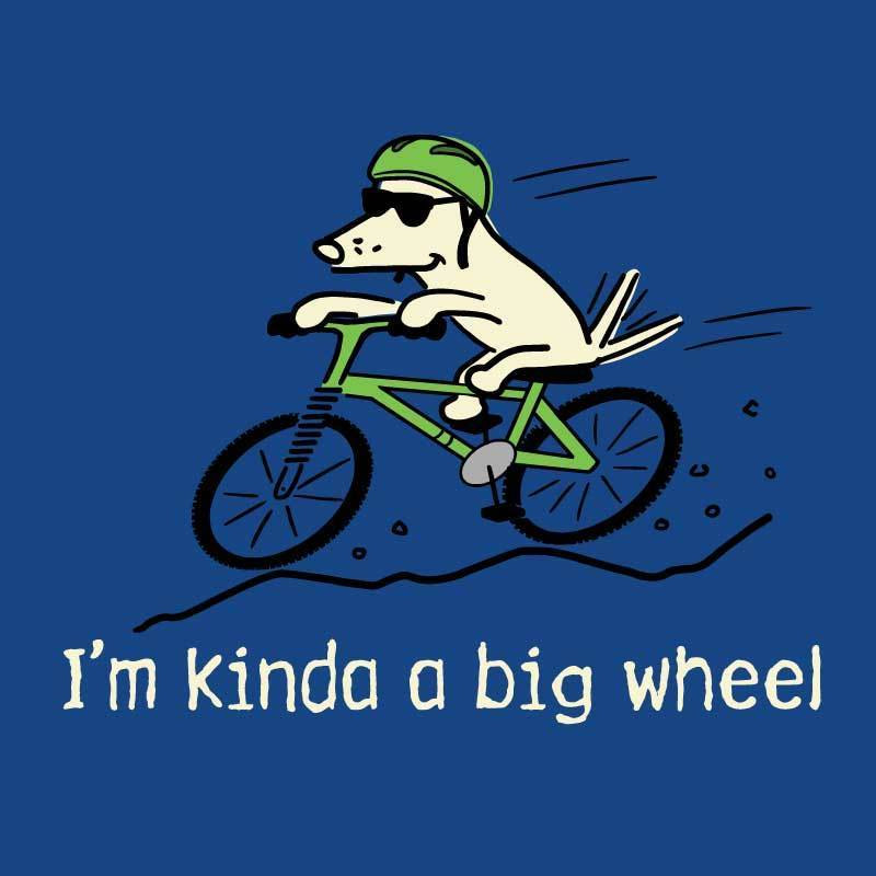 I'm Kinda A Big Wheel - Ladies T-Shirt V-Neck