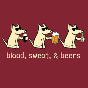 Blood, Sweat, & Beers - Ladies T-Shirt V-Neck