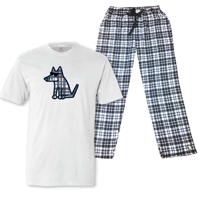 Teddy's Blue Plaid - Pajama Set