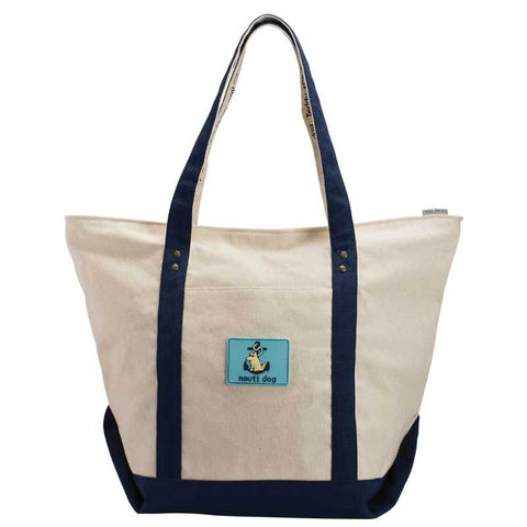 Nauti Dog - Canvas Boat Tote