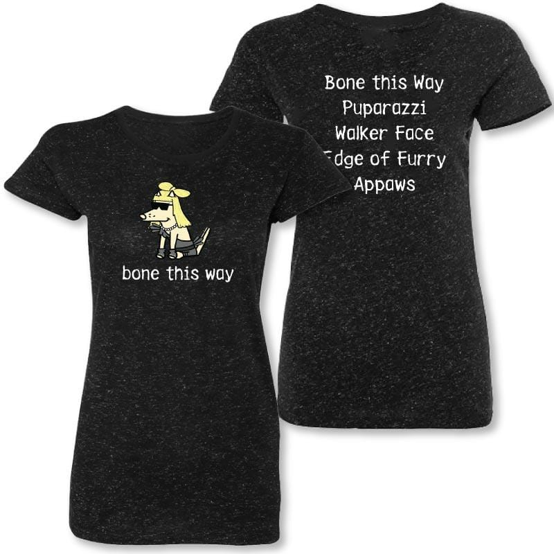 Bone This Way - Ladies Silver Glitter Crew Neck Tee