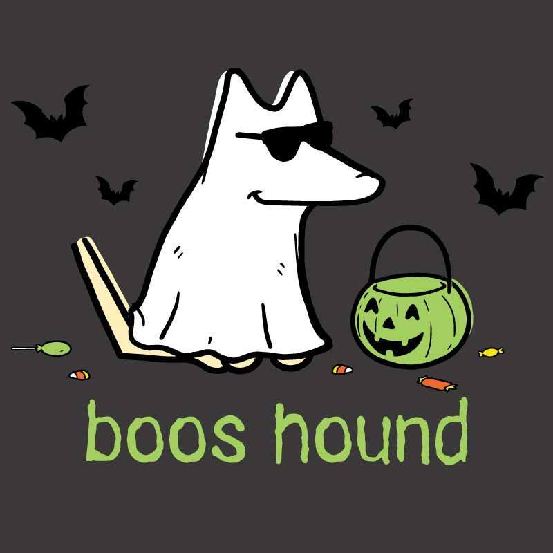 Boos Hound - T-Shirt - Classic Garment Dyed - Teddy the Dog T-Shirts and Gifts