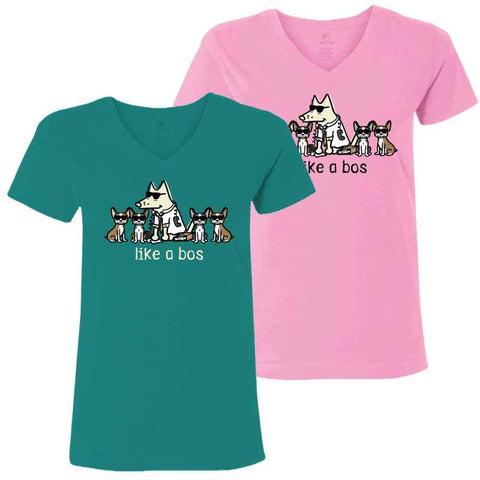 Like a Bos - Ladies T-Shirt V-Neck