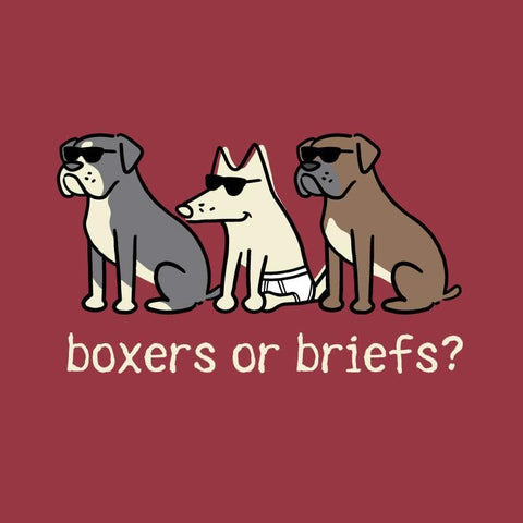Boxers Or Briefs - Long-Sleeve T-Shirt Classic - Teddy the Dog T-Shirts and Gifts